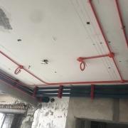 成都顶楼跃层装修现场水电改造图 防水施工图