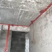 成都上海花园装修水电改造施工现场,客餐厅吊顶施工图(现场实拍)