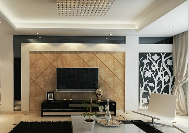 摩玛城现代黑白风格装修设计效果图