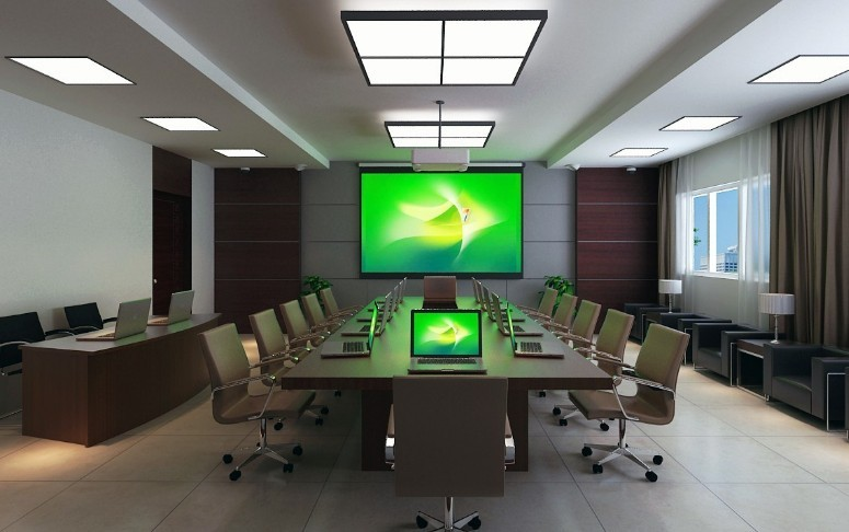 成都牛王庙商汇大厦律师事务所会议室装修设计效果图