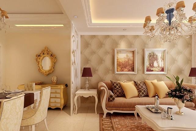 南苑欧式风格客厅装修设计效果图