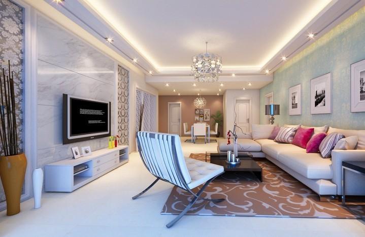上东阳光客厅现代风格装修设计效果图
