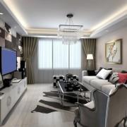 华润二十四城小户型客厅装修设计效果图
