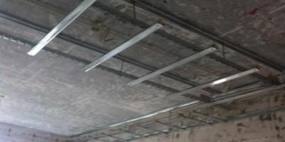 保利新天地装修设计现场施工图-客厅吊顶水电改造施工图