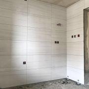成都雅頌居裝修貼磚施工現場