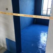 成都金色海倫裝修現場,水電改造開槽,防水施工圖