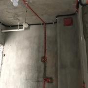 人居盛和林语水电改造施工现场图