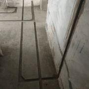 成都东苑水电改造施工现场开槽图