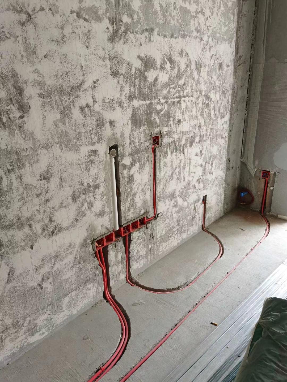 成都水电改造 成都龙湖晴川水电改造施工现场图(已布线)