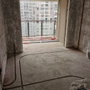 成都南城国际水电改造施工现场图(线路开槽)