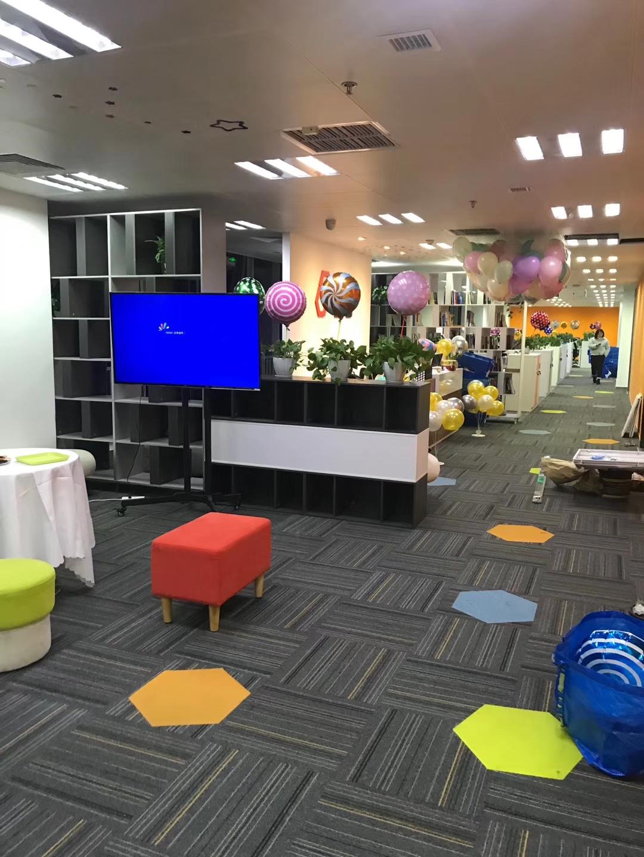 成都銀海中心辦公室裝修完工效果圖
