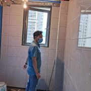 成都永立新城裝修施工現場圖(防水+貼磚)