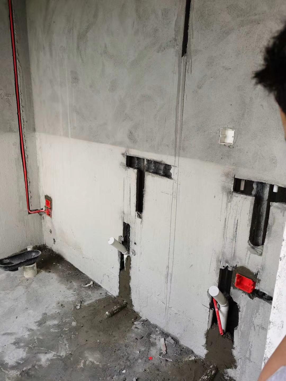 成都中南海棠集水电改造施工现场图