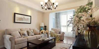 柏仕公馆现代风格客厅卧室装修设计效果图
