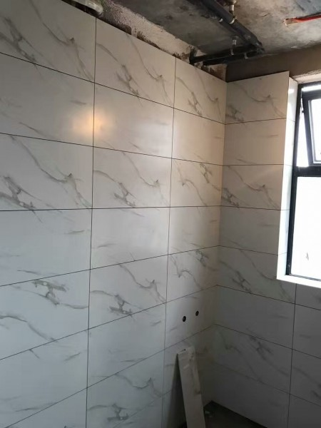 墙面施工现场工艺,厨卫贴砖施工图