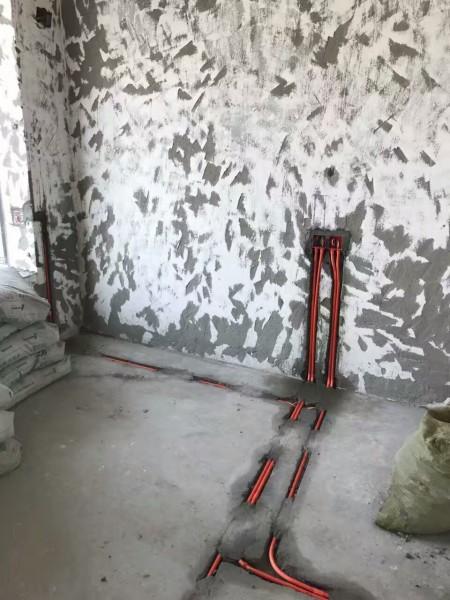 建发鹭洲国际装修施工现场图
