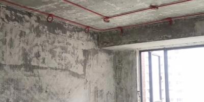 成都爵领欧城装修施工现场图 贴砖 防水 吊顶图