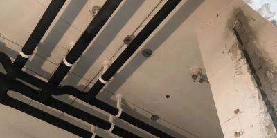 锦城花园水电改造开槽施工现场
